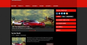 Red Blogger Theme Template Download