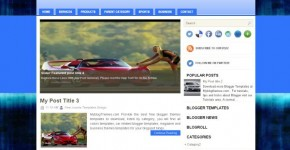 Blueage Blogger Template Download
