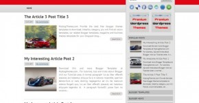 News Magazine Blogger Theme