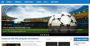 Soccer Blogger Theme Template