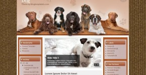 Brown Dogs Blogger Theme