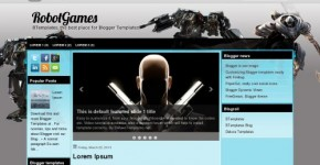 Robots Games Blogger Theme