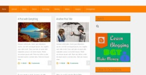 Orange Grid Blogger Theme