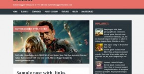 Responsive Magazine Blogger Template
