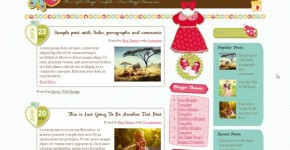 Pink Girls Blogger Template