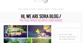 Free Pink White Blogger Template