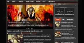 Free Top Gamer Blogger Template