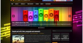Music Blogger Theme Template