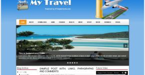 Travel Blogger Theme Template