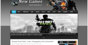 Abstract New Games Blogger Theme