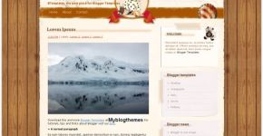 Vintage Puppy Blogger Template
