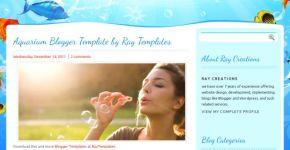 Blue Aquarium Blogger Template