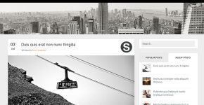 Black Grey Blogger Template