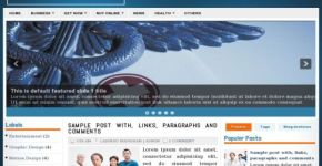 Blue Health News Blogger Template Download