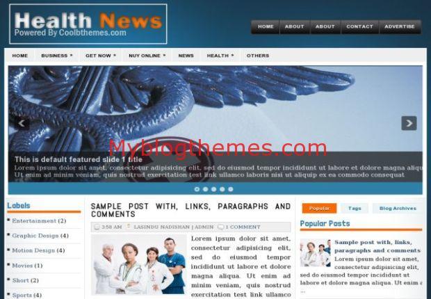 News Magazine Blogger Templates - Myblogthemes