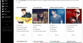 Music Streaming Blogger Template