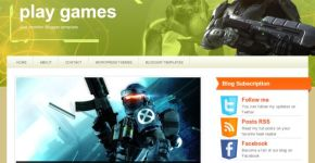 Green Play Games Blogger Template