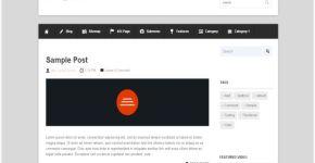 Business Flat Blogger Template