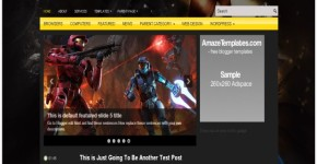 Black Games Dark Blogger Template