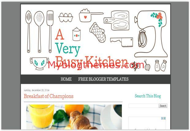 Kitchen Cooking Blogger Template