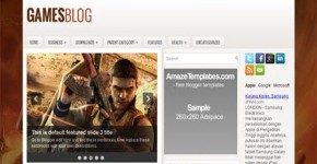 Brown Games Blogger Theme Template