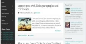 Fixed Menu Minimal Blogger Template
