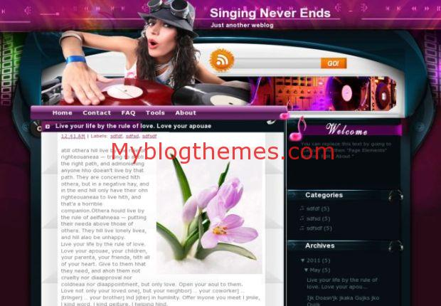 Music Blogger Templates Symphony Music Vintage Blogger Template Free