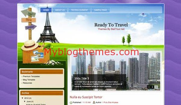 Ready Blogger Travel Free Template