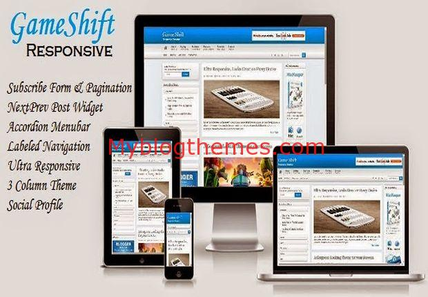Business blogger templates myblogthemes blue shift wajeb