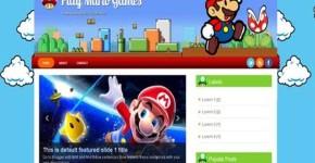 Super Mario Blogger Template Download
