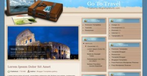 Wood Brown Blogger Travel Template
