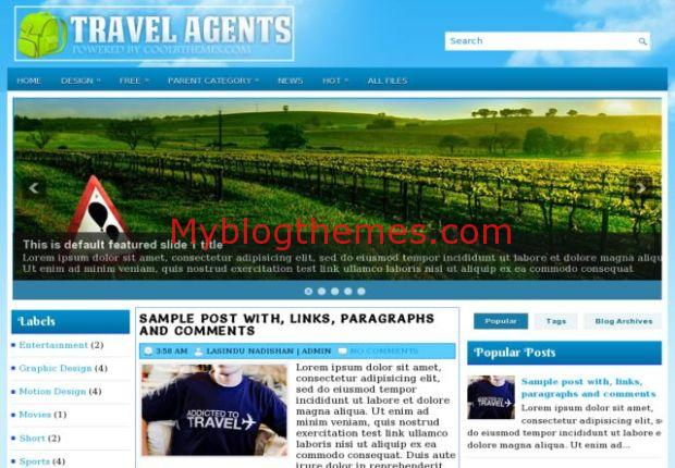 Travel Agency Blogger Template