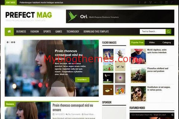 Green magazine myblogthemes for Blogger templates free download 2012