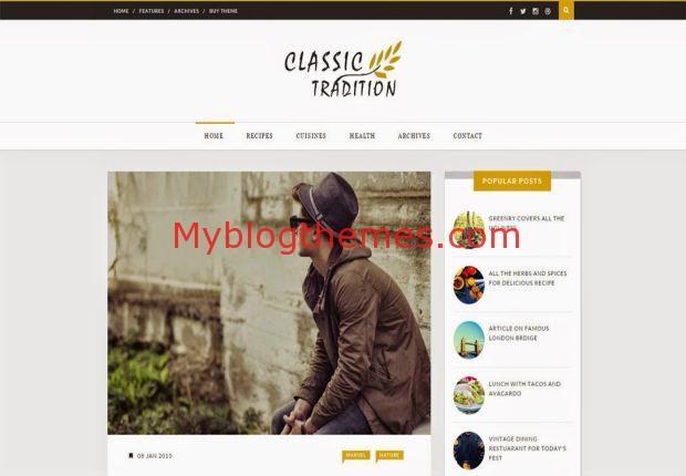 Business Modern Classic Blogger Template