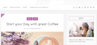 Clean White Purple Blogger Theme