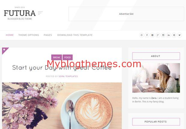 Faster clean white blogger template blogger templates 2019 top.