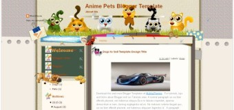 Anime Pets Blogger Template