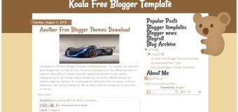 Brown Animal Koala Blogger Template