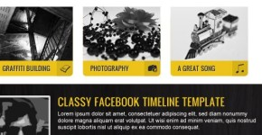 Grunge Yellow Black Facebook Template