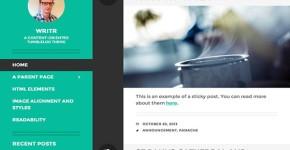 Black Green WordPress Portfolio Theme