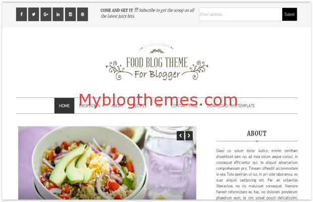 Clean Restaurant Blogger Food Template