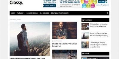 Black White Magazine Blogger Template