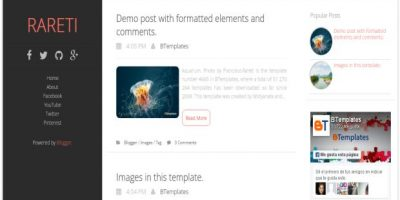 Free Clean 3 Columns Responsive Blogger Template